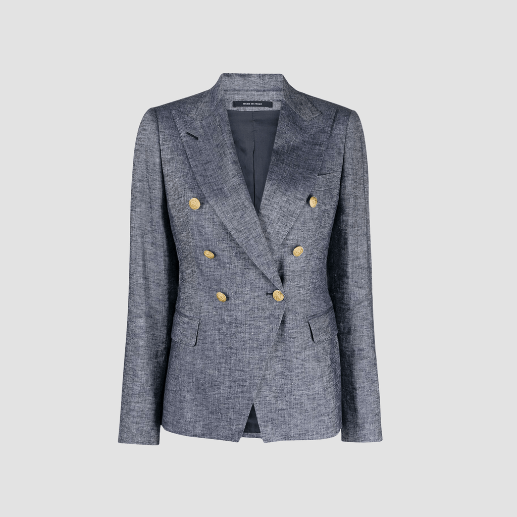Blazer doppiopetto in Denim Scuro
