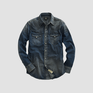 Camicia Western denim Washed