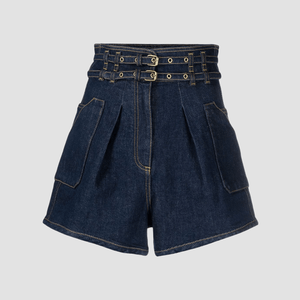 Shorts a vita alta  in Denim