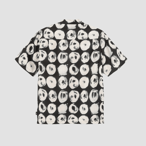 Camicia Hand Drawn Dot Nero e Bianco