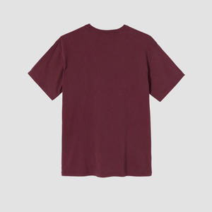 T-Shirt Flower Collegiate Bordeaux