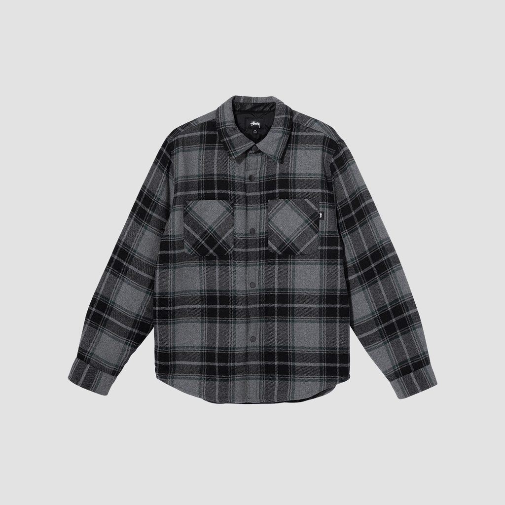 Camicia Max Plaid Quilted Grigio