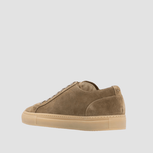 Sneakers In Camoscio Beige