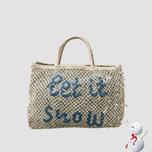 "Borsa in juta ""Let It Snow"" Naturale"