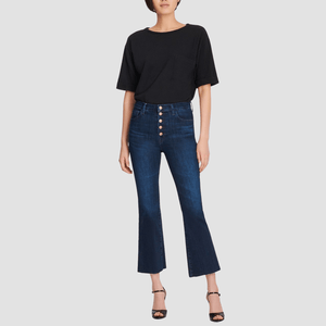 Jeans Lillie Cropped Flare Blue