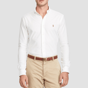 Camicia classica Slim Fit Oxford Bianco