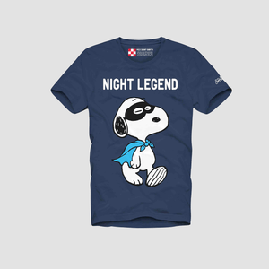 T-Shirt Snoopy Night Legend Blue