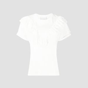 T-shirt con rouches Bianco