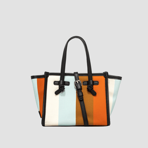 Borsa Miss Marcella Summer Stripe Arancio