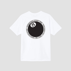 T-Shirt 8 Ball Dot Bianco