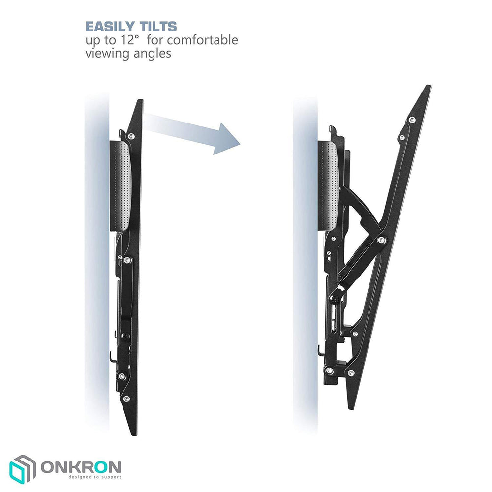 ONKRON Tilting TV Wall Mount  for 40 to 65-inch LCD LED OLED Flat Panel TV Screens up to 80 lbs Ultra Slim TM6