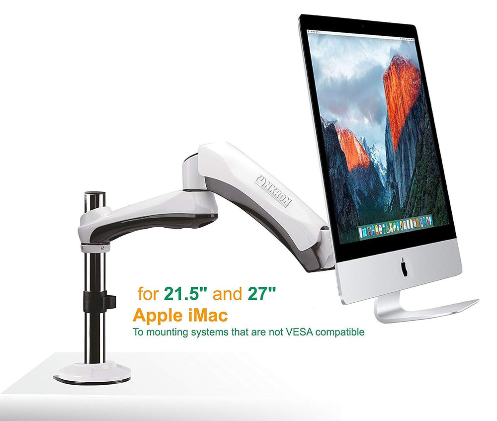 Desk Mount for Apple iMac Onkron G1MAC White