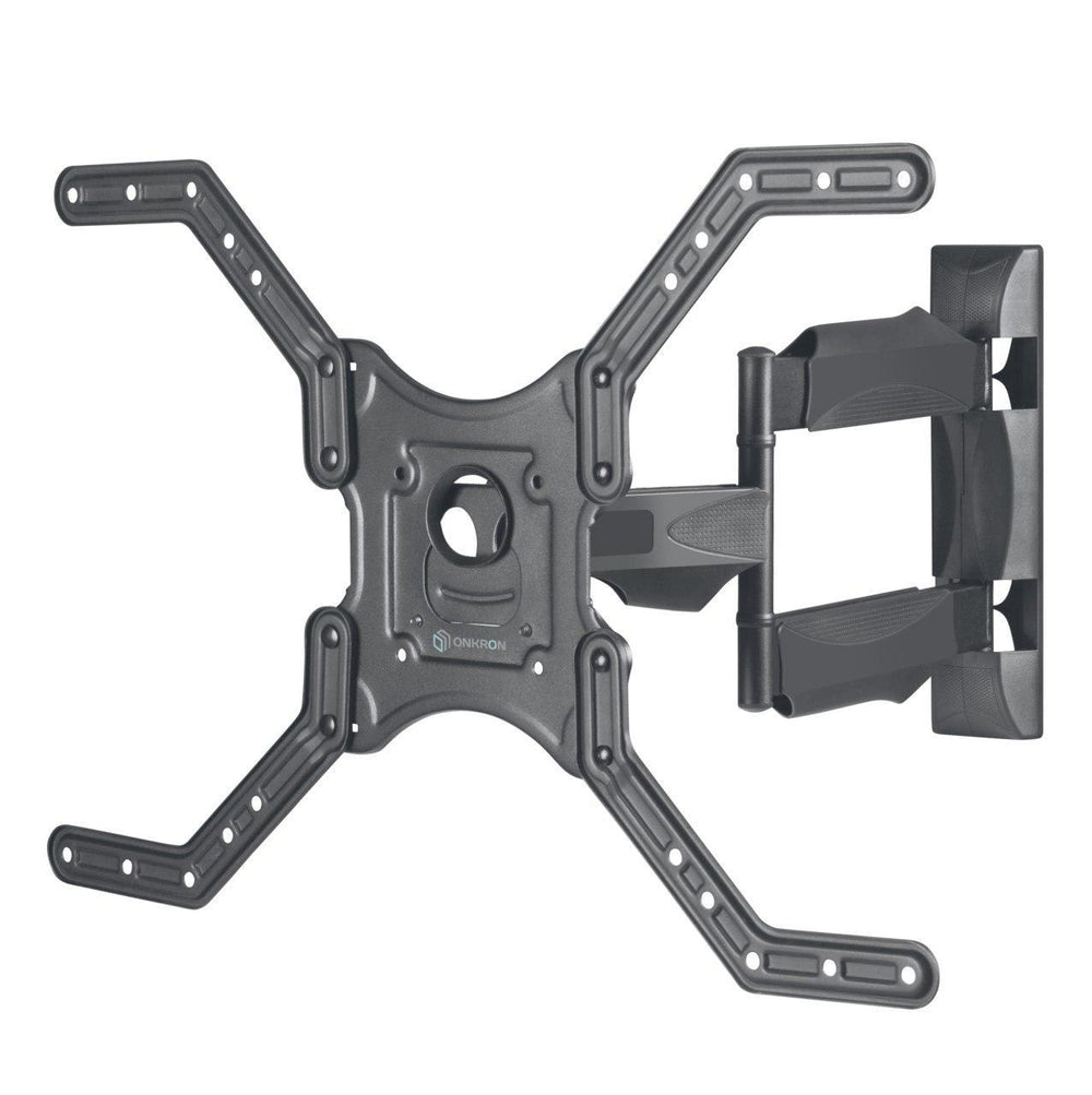 "ONKRON TV Wall Mount Bracket Tilt Swivel for 32"" – 70 Inch LCD LED Flat Screens up to 77 LBS Fully Adjustable Arm M4L Black"