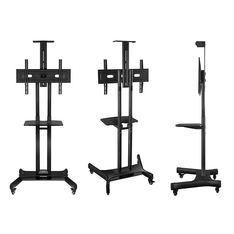 "ONKRON Mobile TV Cart TV Stand w/Mount for Most 32"" to 65"" Flat Screens up to 100 lbs, TS15-52 Black"