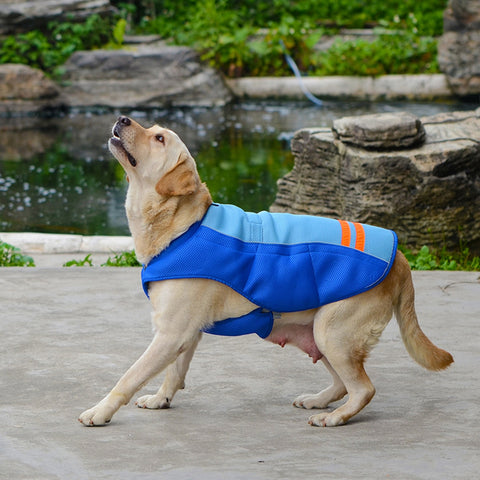 Summer Pet Dog Cooling Vest Coat Clothing Cool Down your Dog in Hot Weather Sunscreen Cooling Clothing Jacket 5 Sizes Breathable