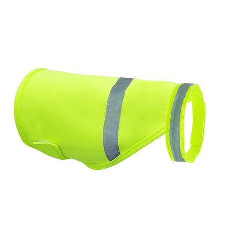 Reflective Dog Vest Safety Fluorescent Dog Clothes Waterproof Luminous Clothing Protect Dogs From Cars & Hunting Accidents S M L