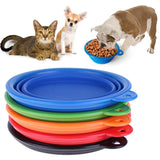 Silicone Dog Bowl Folding Travel Dog Feeder Food Container with Dog Click Puppy Cats Drink Water Bowl Pet Supplies