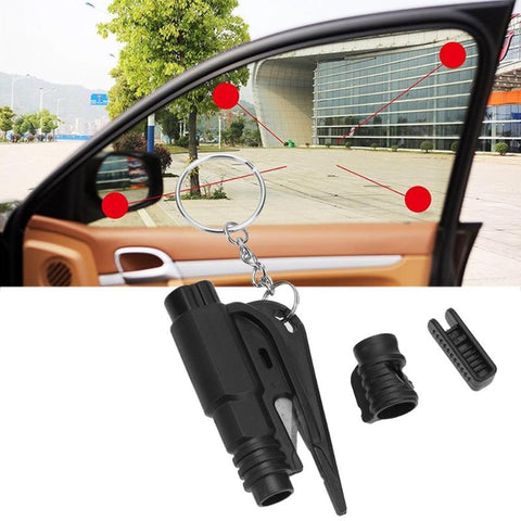 1pc Mini Pocket Auto Car Emergency Glass Window Breaking Safety Hammer Escape Rescue Tool with Key Chain Seat Belt Cutter