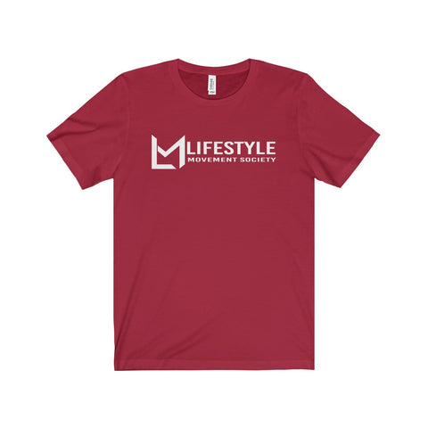 Lifestyle Across White Writing Tee-5 Color Options