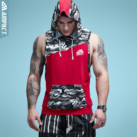 Sleeveless Camo Hoodie-3 Color Options
