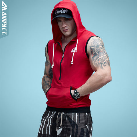 Solid Sleeveless Hoodie-3 Color Options