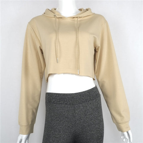 Crop Top Hoodie-3 Color Options