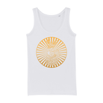 Zodiac Signs - Capricorn Organic Jersey Womens Tank Top - Ink Elements