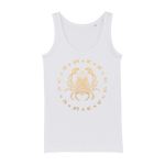 Zodiac Signs - Cancer Organic Jersey Womens Tank Top - Ink Elements