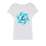 Yoga Waves Organic Jersey Womens T-Shirt - Ink Elements