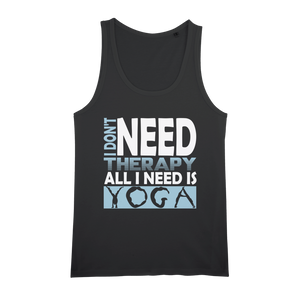 All I Need Is Yoga Organic Jersey Womens Tank Top - Ink Elements