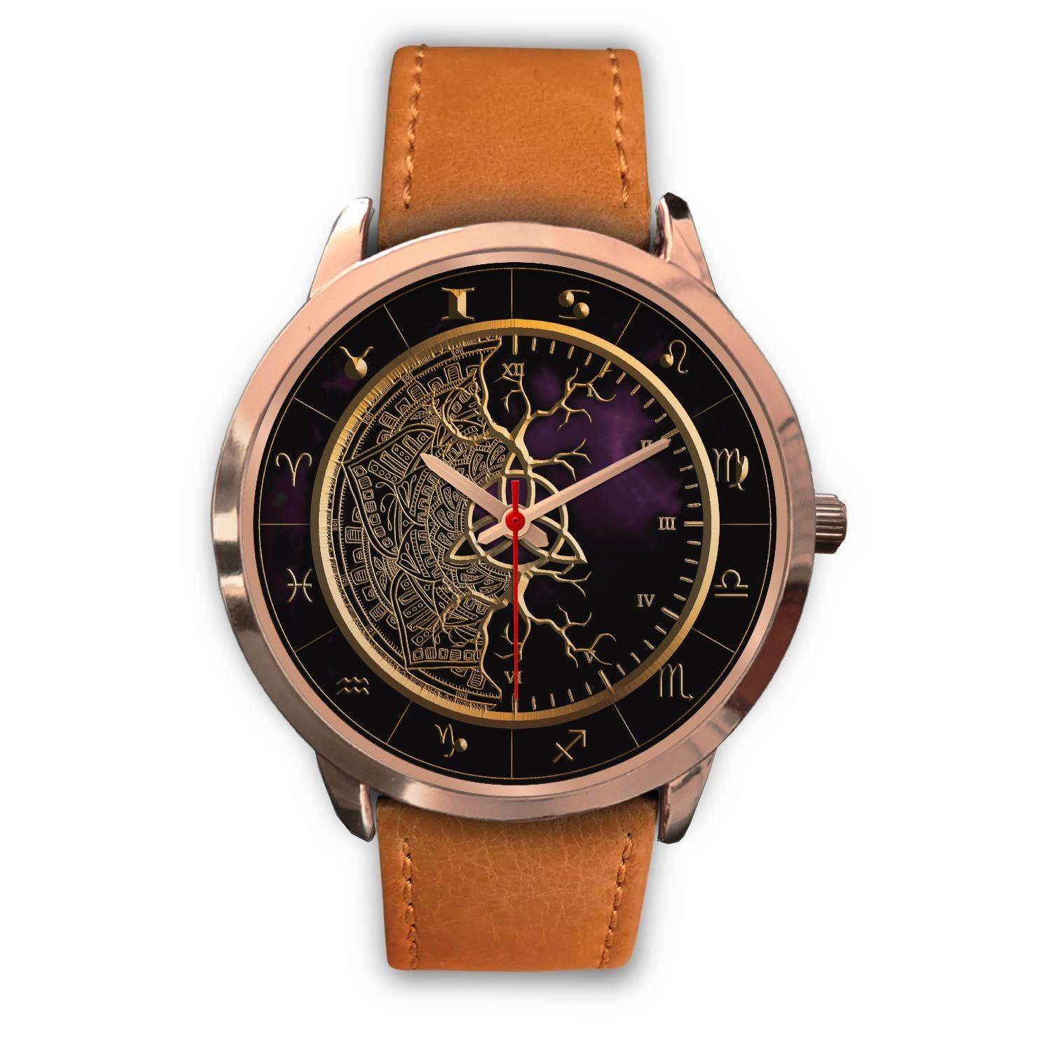 Zodiac Luxury Triquetra Root Watches (Men/Women) - Ink Elements