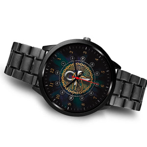 Ancient Egyptian Luxury Watch Viking Protection of Ankh & Eye of Horus - Ink Elements