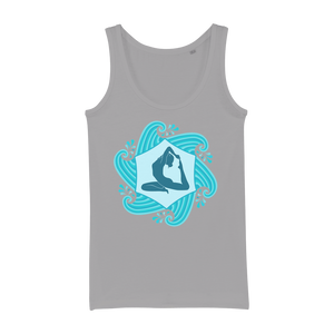 Yoga Waves Organic Jersey Womens Tank Top - Ink Elements