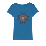 Mandala Star Organic Jersey Womens T-Shirt - Ink Elements
