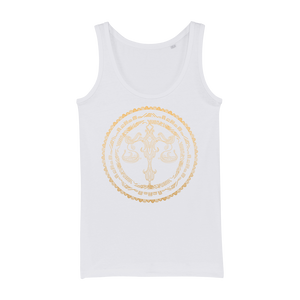 Zodiac Signs - Libra Organic Jersey Womens Tank Top - Ink Elements