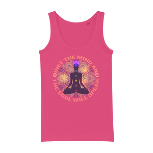 Quiet The Mind And The Soul Wll Speak Organic Jersey Womens Tank Top - Ink Elements