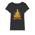 Enjoy The Silence Organic Jersey Womens T-Shirt - Ink Elements