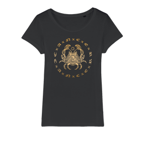 Zodiac Signs - Cancer Organic Jersey Womens T-Shirt - Ink Elements