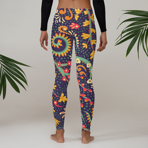 Watercolor Floral Leggings - Ink Elements