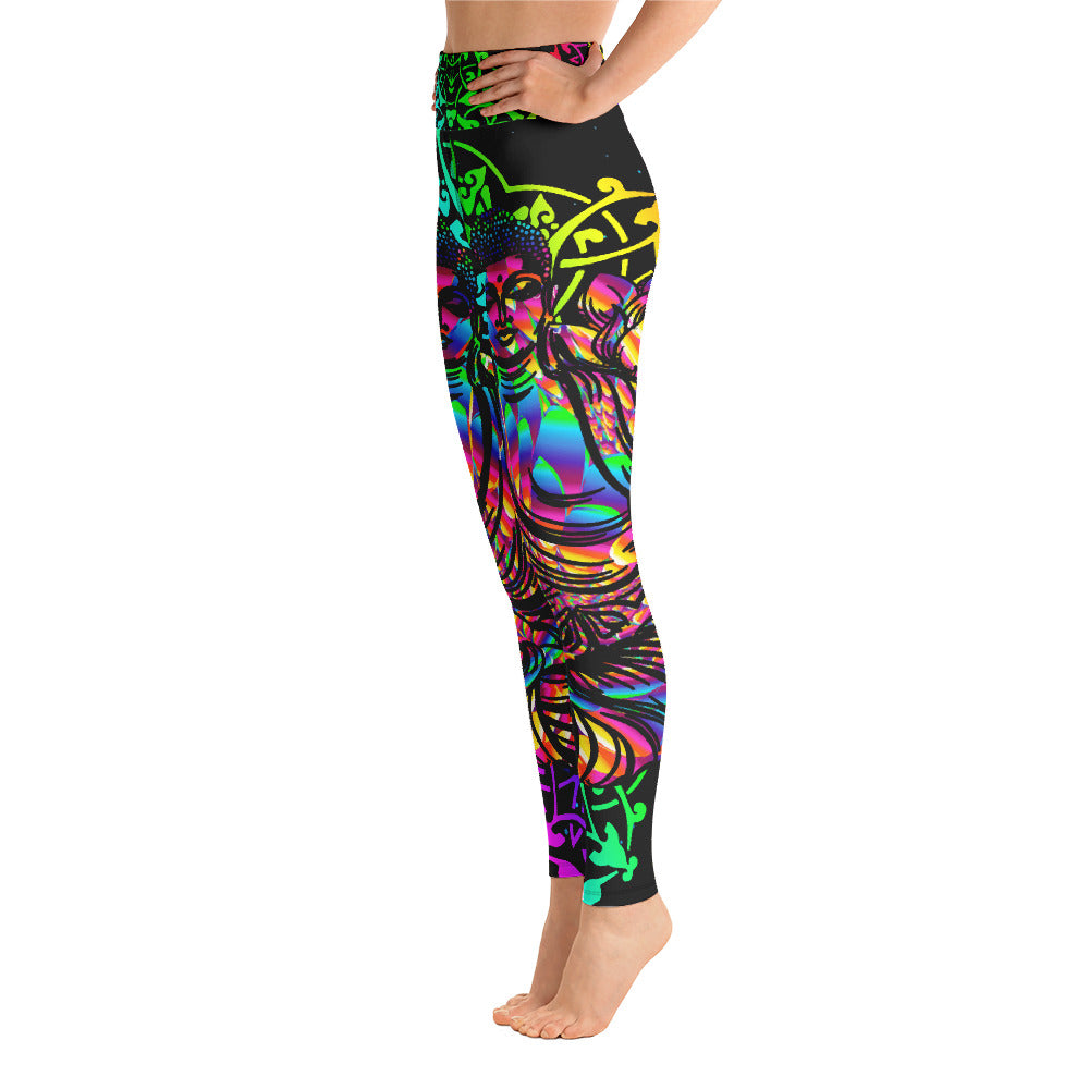 Buddha Yoga Leggings - Ink Elements