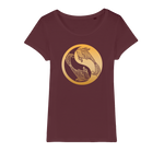 Zodiac Signs - Pisces Organic Jersey Womens T-Shirt - Ink Elements