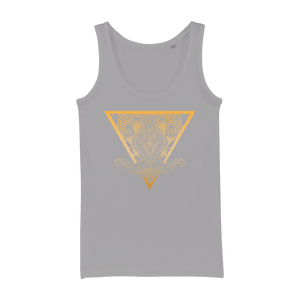 Zodiac Signs - Aquarius Organic Jersey Womens Tank Top - Ink Elements
