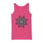 Mandala Star Organic Jersey Womens Tank Top - Ink Elements