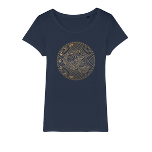 Zodiac Signs - Scorpio Organic Jersey Womens T-Shirt - Ink Elements