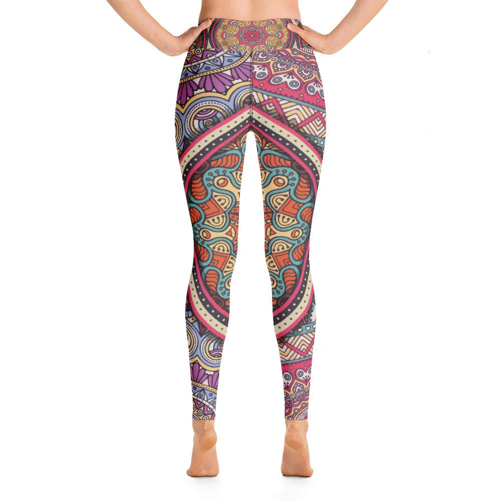Mandala Yoga Leggings - Ink Elements