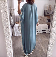 Load image into Gallery viewer, Bohemian Long Ethnic Style Tassel Beach Loose Dress