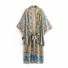 Load image into Gallery viewer, New Prints Lace Cardigan Long Kimono Robe Dress