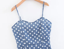 Load image into Gallery viewer, Summer Elegant Polka Dot Sling Mini Dress