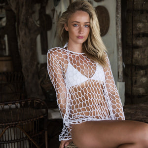Fishing Nets Hooks Sexy Vacation Beach Cover-Up