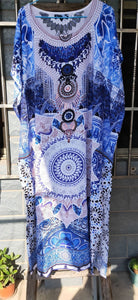 Thin Floral Printed Beach Loose Large Size Sunscreen Bikini Blouse Holiday Long Dress